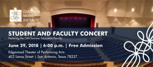 June 29 Outreach Concert @ Edgewood Theater of Performing Arts