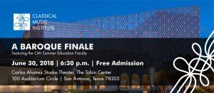 June 30 Outreach Concert @ Carlos Alvarez Studio Theater-The Tobin Center