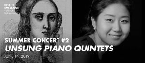 Summer Concert #2—Unsung Piano Quintets @ Concert Hall – Luella Bennack Music Center – University of the Incarnate Word (300 seats)