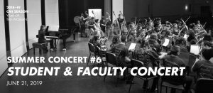 Summer Concert #6—Student & Faculty Concert @ Edgewood Theater of Performing Arts